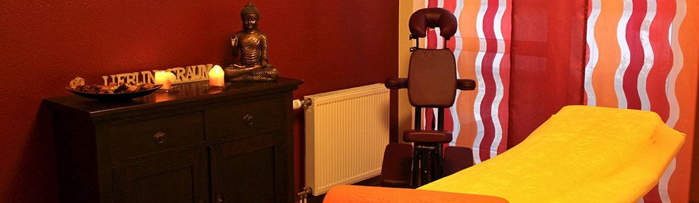 Behandlungsraum mit Buddha
